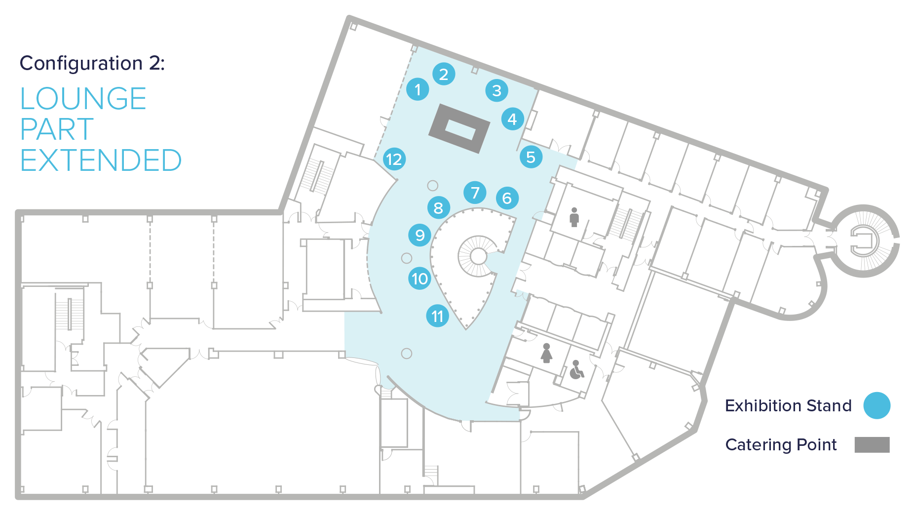 exhibition floor plans at conference